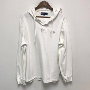 Polo Ralph Lauren Pullover Hoodie shirt Sz XL Whte